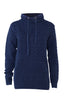 Classic pullover with elegant collar in dark blue. Piece of Blue
