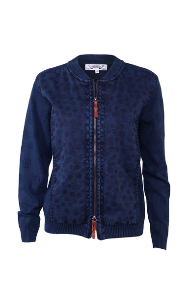 Feminine Cardigan in Dark Blue. Piece of Blue.