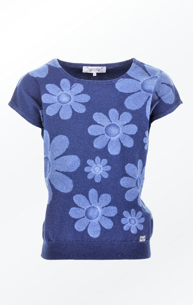 Feminine short-sleeved Indigo Pullover for Women fra Piece of Blue