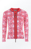 Elegant flower Printed Cardigan in Red for Women from Piece of Blue