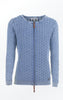 Summer-like Cardigan Knitted in a Feminine Pattern in Light Indigo Blue from Piece of Blue