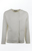 Knit Jacket in White with Oversized Shoulders for Women from Piece of Blue
