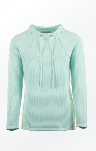 Mint Green Pullover in Feminine Knit Pattern for Her from Piece of Blue