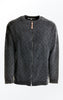 Simple Loose Fit Black Grey Cotton Cardigan from Piece of Blue