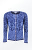 Indigo Blue laser Printed Cardigan for Women from Piece of Blue