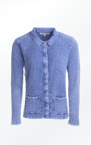 Classic Light Indigo Blue Cardigan for Women from Piece of Blue