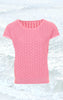 Feminine short-sleeved Pullover in Pink for Women from Piece of Blue