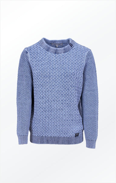 FEMININE AND ELEGANT PULLOVER -  LIGHT INDIGO BLUE