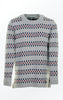 Relaxed Long Off-White Pullover With Stripes for Women from Piece of Blue