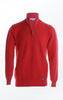 Basic half-zip Pullover in Red for Men from Piece of Blue
