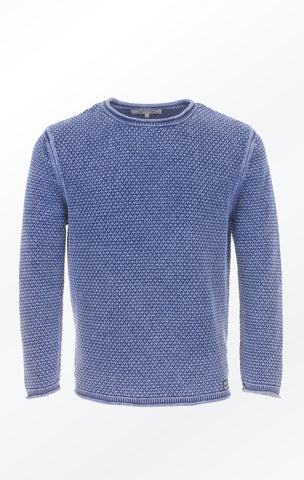 5df20a7ef6086 Indigo Blue Cotton Pullover in a Classic look for Men from Piece of Blue