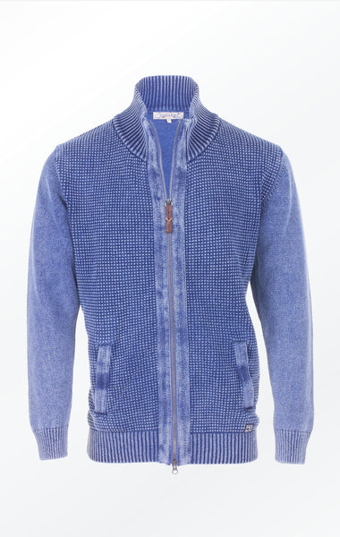 Light Indigo Jacket with Herringbone Band for Men from Piece of Blue