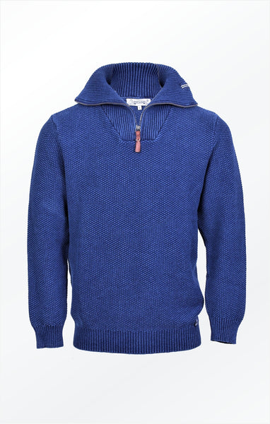 NICE PULLOVER WITH A HIGH COLLAR - DARK INDIGO BLUE