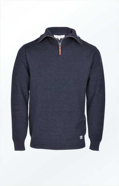 WELL-DRESSED AND REALXED KNIT PULLOVER  INDIGO BLUE