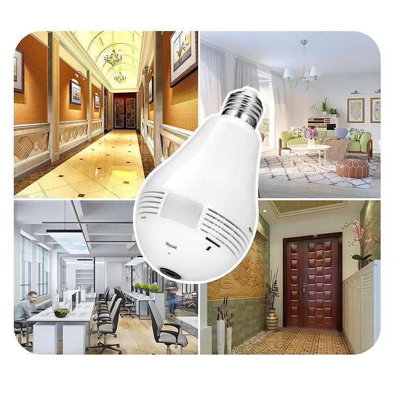 Fisheye Bulb Lamp Panoramic IP Camera