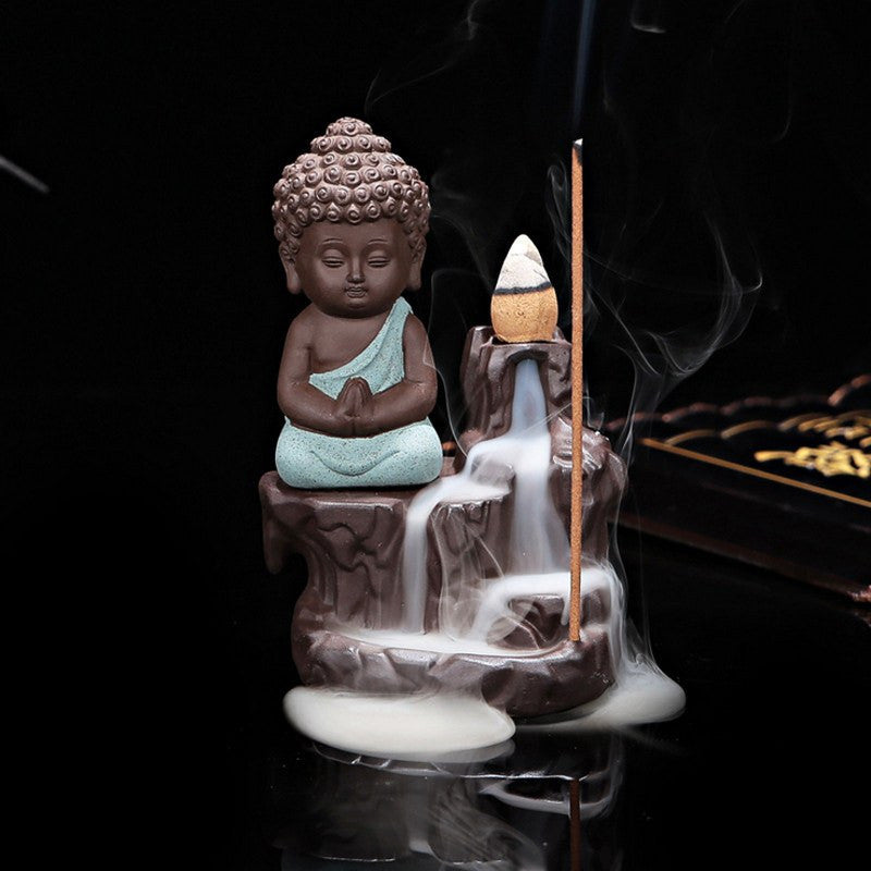 Aromatherapy Products - Ceramic Little Buddha Incense Burners