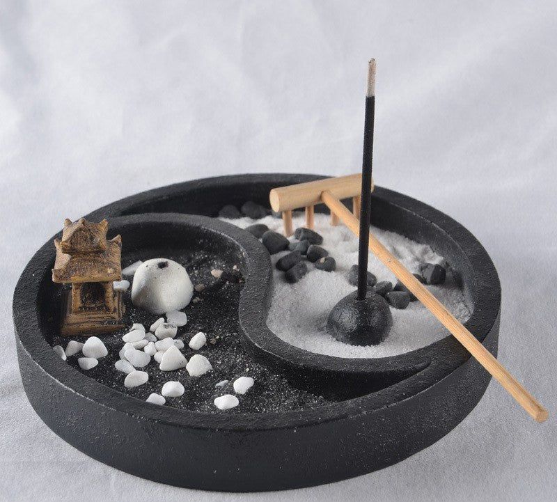 Aromatherapy Products - Yin-Yang Zen Garden Incense Burner