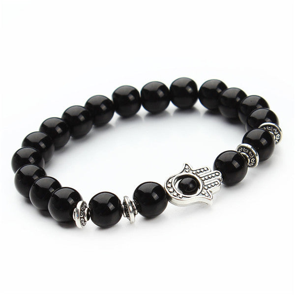 matte collections cz beaded and jewelry men bracelet diamond nialaya bracelets black jewellery lava s with stone agate for onyx