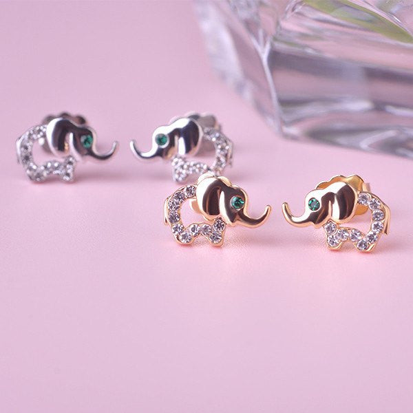 Bracelets - Elephant Crystal Earrings