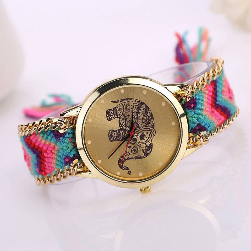 Bracelets - Elephant Weaved Rope Watch