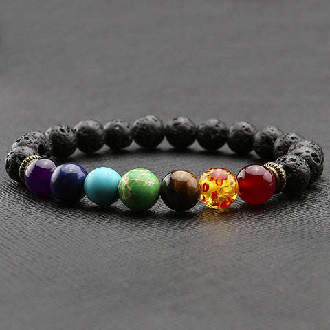 gift jewelry bracelets item wukaka stone stretch bracelet men volcano yoga lover energy pcs beads natural
