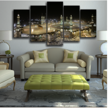5 Piece Novelty Mecca Wall Canvas