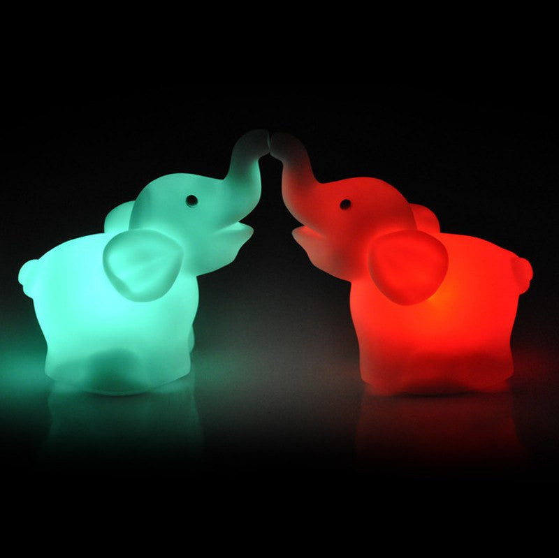 Home Decor - 2 Pcs Elephant LED Night Light Lamp