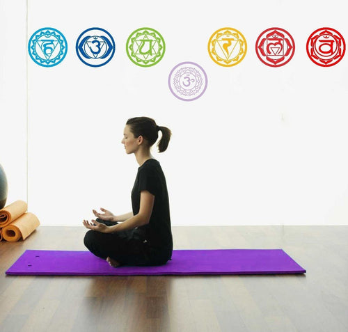 Home Decor - 7pcs/set Yoga Chakra Symbol Wall Decals