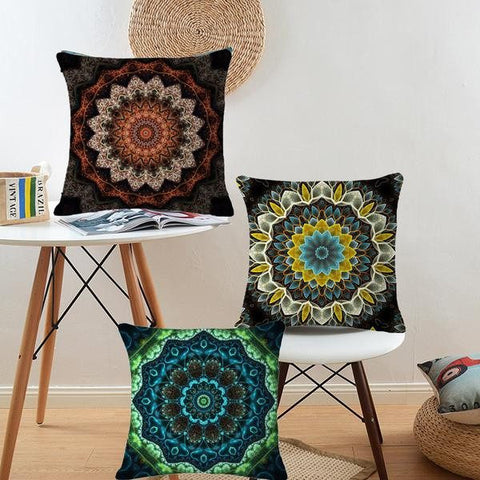 Indian Mandala Pouf Cushion Covers