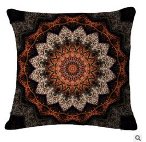 Home Decor - Bohemian Mandala Cushion Cover Pillow