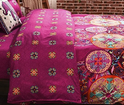 Home Decor - Bohemian Style Floral Cover Set