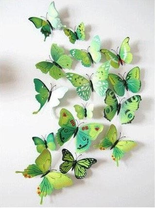 Home Decor - Butterfly 3D Wall Stickers - 12 Pieces