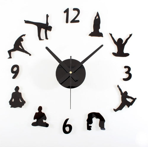 Home Decor - Creative Yoga Wall Clock
