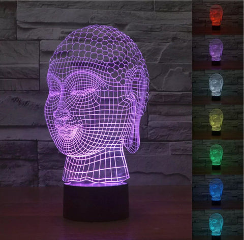 Limited Edition 3D Hologram Meditation Yoga LED Lamp