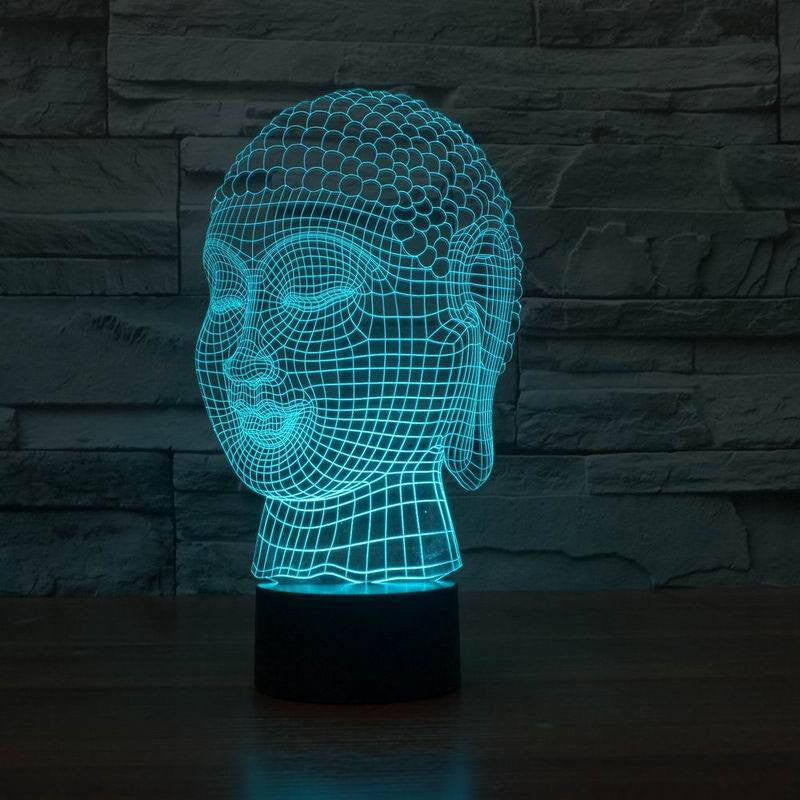 Home Decor - Limited Edition 3D Hologram Buddha LED Lamp