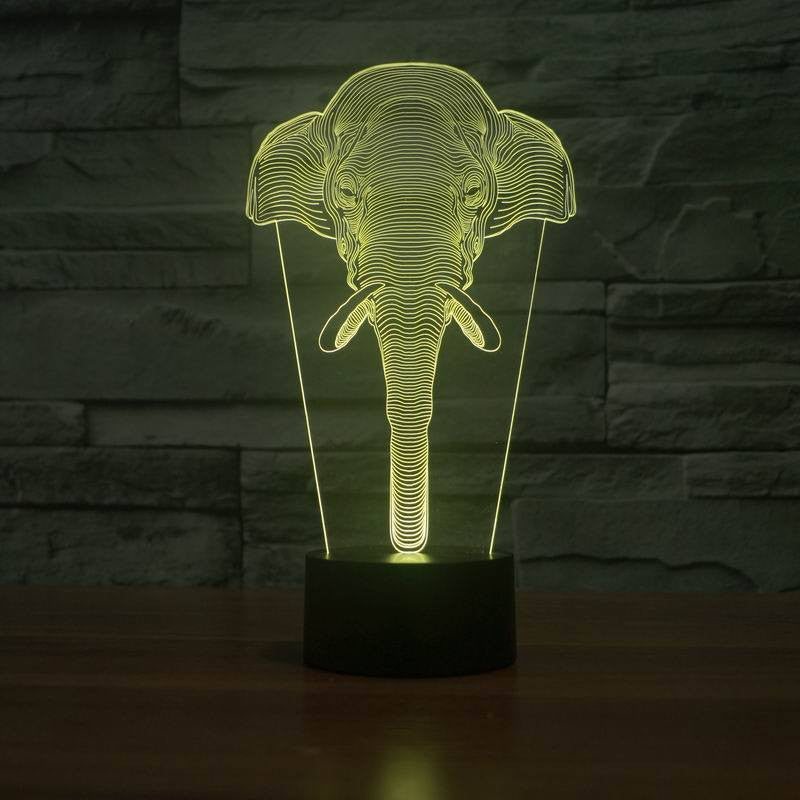 Home Decor - Limited Edition 3D Hologram Elephant LED Lamp