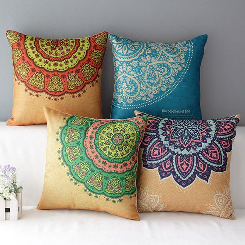 Home Decor - Mandala Decorative Pillow Case