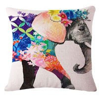 Home Decor - Pretty Indian Elephant Pillow Case