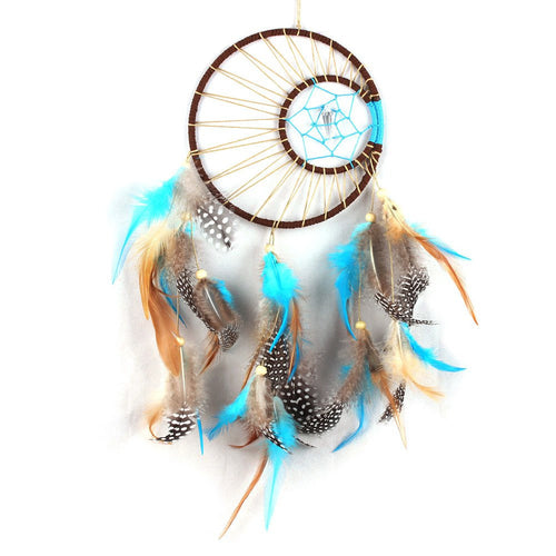 Home Decor - Turquoise Feathers Dreamcatcher