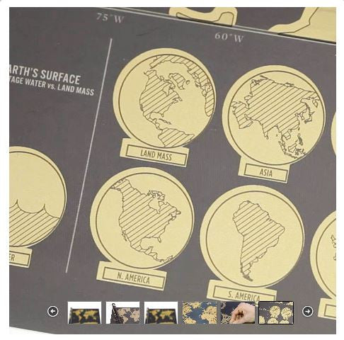Scratch Off Map (Deluxe Edition)