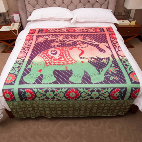 Mandala Blankets - Elephant Bedding Tapestry Wall Carpet