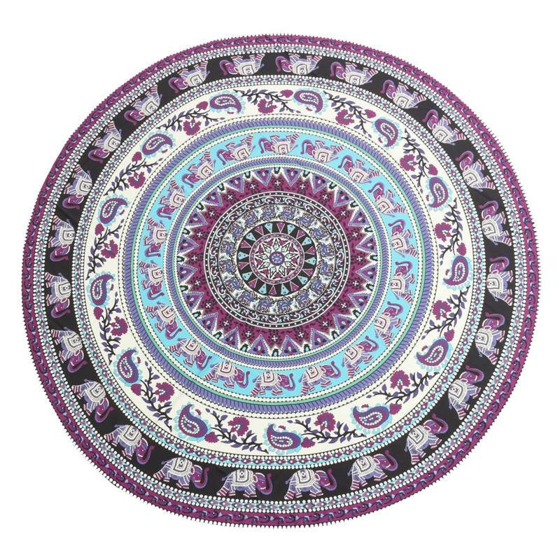 Mandala Blankets - Indian Elephant Mandala Blanket