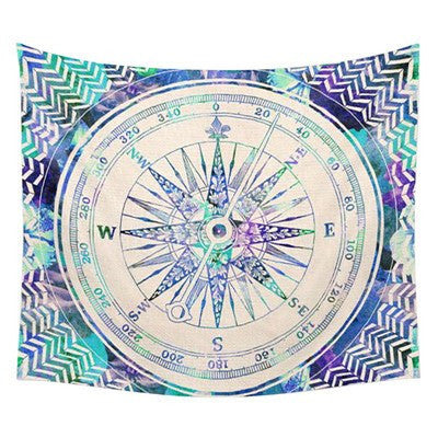 Mandala Red Beach Yoga Tapestry
