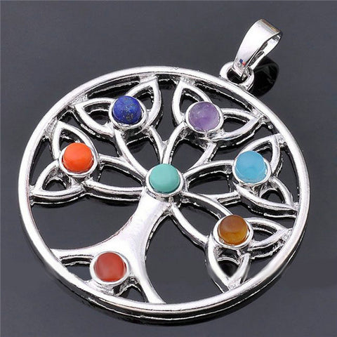 Necklaces - 7 Chakra Reiki Point Stone Pendant