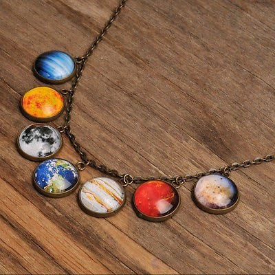 Chakra Reiki Glass Stone Necklace
