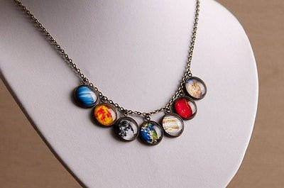 Necklaces - Brass Galaxy Bracelet And Necklace With Antique Flair