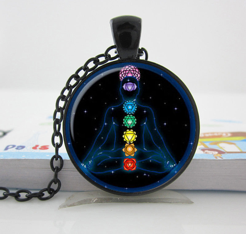 Necklaces - Chakra Reiki Glass Stone Necklace