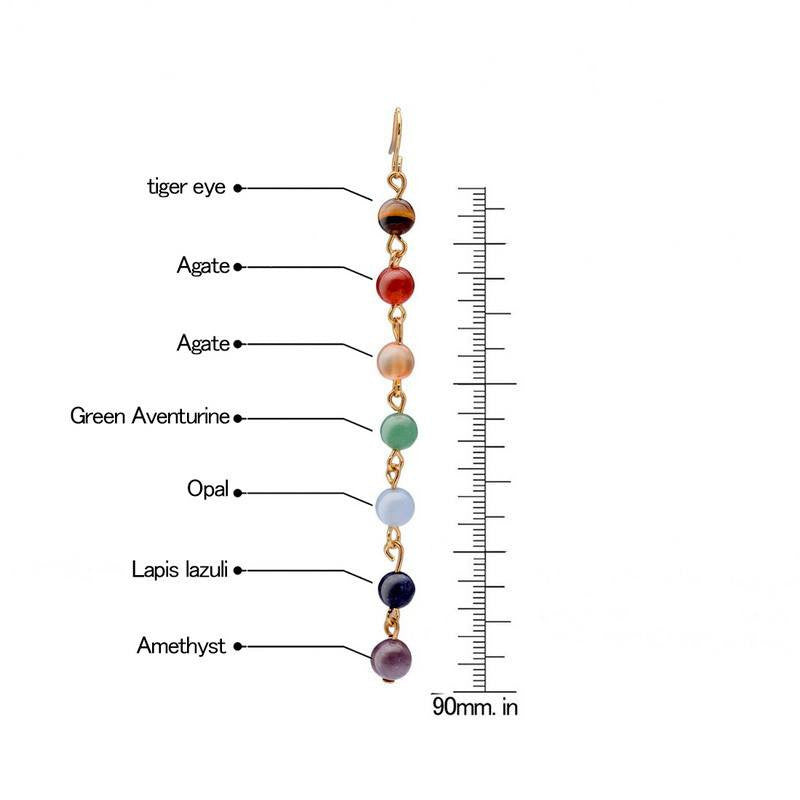 Necklaces - Classic 7 Chakra Drop Earrings