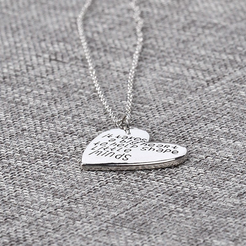 Necklaces - It Takes A Big Heart To Help Shape Little Minds Necklace