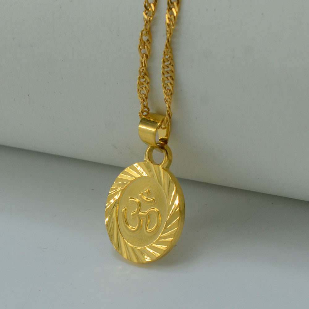 Necklaces - Om 18k Gold Filled Plated Necklace